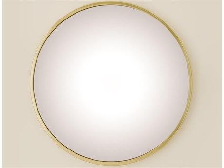 Global Views Brass 36'' Wide Wall Mirror