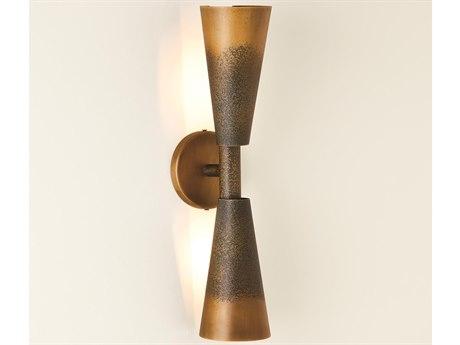 Global Views Bronze / Gold 2-light Wall Sconce