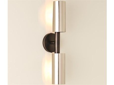 Global Views Zinc / Nickel 2-light Wall Sconce