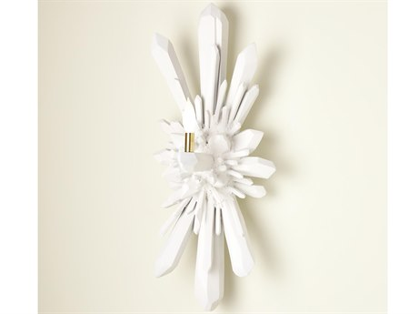 Global Views Chalk White Powder 1-light Wall Sconce