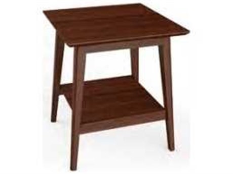 Greenington Antares Exotic Caramelized 20'' Square End Table