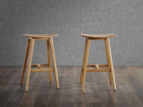 Greenington Eco Ridge By Bamax Caramelized Side Counter Height Stool (Set of 2) GTECO09CA