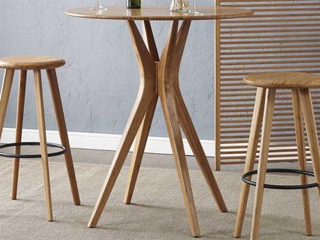 Greenington Mimosa Caramelized 36'' Round Bar Table GTG0062CA