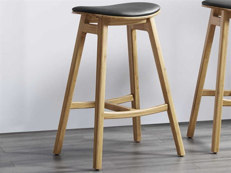 Greenington Skol Caramelized Side Bar Height Stool (Set of 2) GTGSK004CA