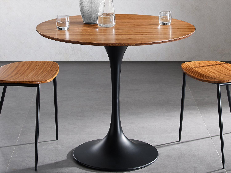 Greenington Soho Amber 36 Wide Round Dining Table Gtgsh0001am