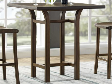 Greenington Tulip 36'' Square Black Walnut Bar Height Table GTG0018BL
