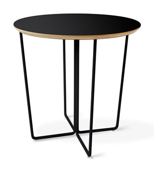 Gus* Modern Array Black 22'' Wide Round End Table