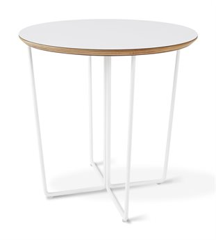 Gus* Modern Array White 22'' Wide Round End Table
