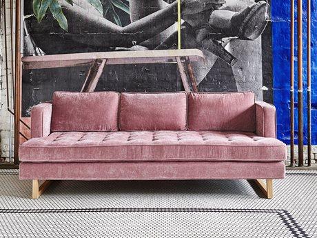 Gus* Modern Aubrey Marais Cerise Sofa Couch GUMECSFAUBRMARCER