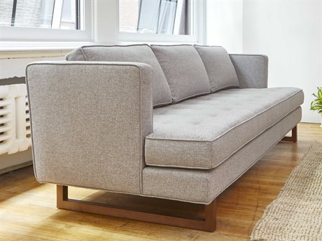 Gus* Modern Aubrey Parliament Stone Sofa Couch GUMECSFAUBRPARSTO