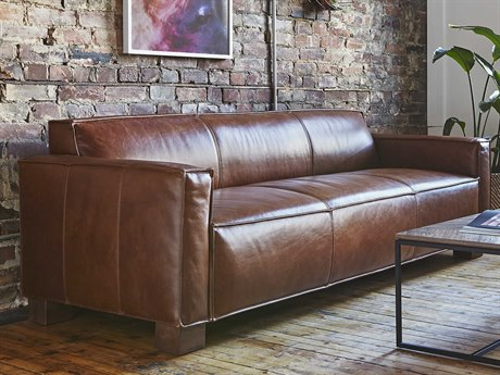 Gus* Modern Cabot Saddle Brown Sofa Couch