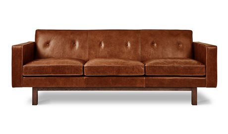 Gus* Modern Embassy Saddle Brown Sofa Couch