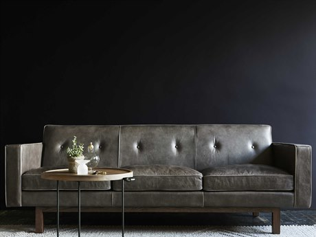 Gus* Modern Embassy Saddle Grey Sofa Couch
