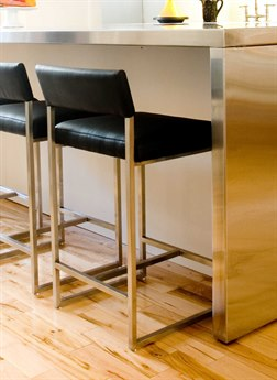 Gus* Modern Graph Vinyl Coal Side Counter Height Stool GUMECOTGRAPVC