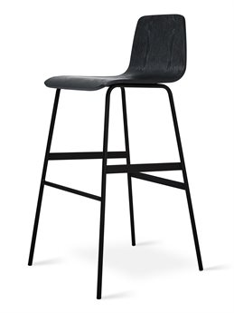 Gus* Modern Lecture Ash Black Side Bar Height Stool