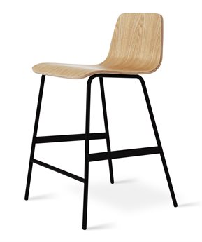 Gus* Modern Lecture Natural Ash / Black Side Counter Height Stool GUMECOTLECTAN