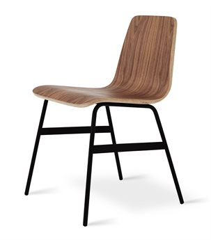 Gus* Modern Lecture Walnut Side Dining Chair