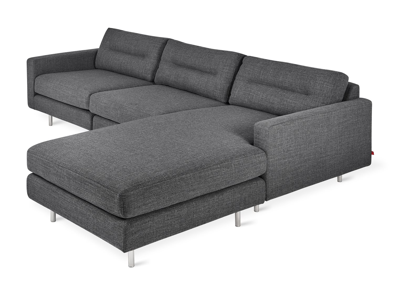 Fine Gus Modern Logan Andorra Pewter Sectional Sofa Pdpeps Interior Chair Design Pdpepsorg