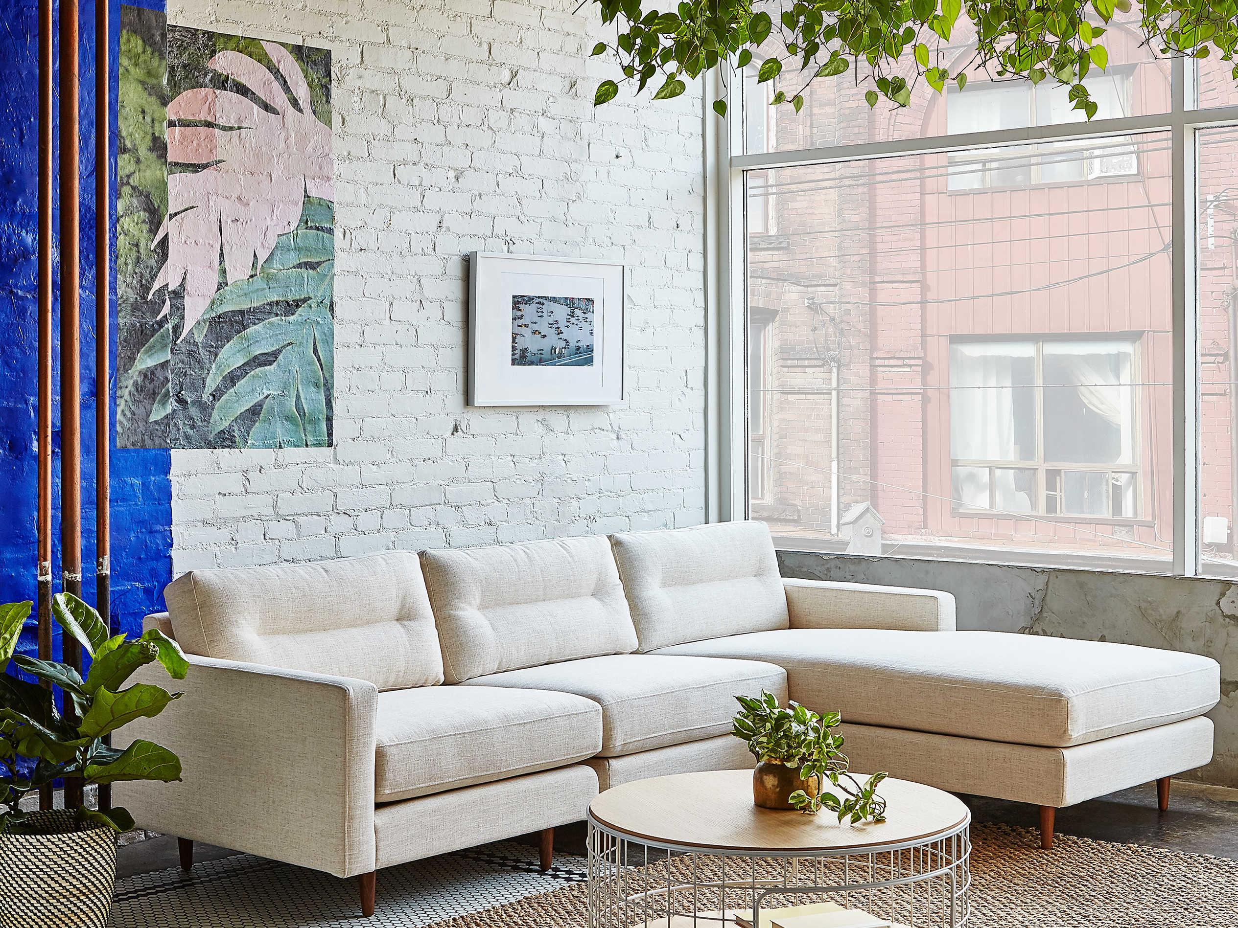 Pleasing Gus Modern Logan Huron Ivory Sectional Sofa Short Links Chair Design For Home Short Linksinfo