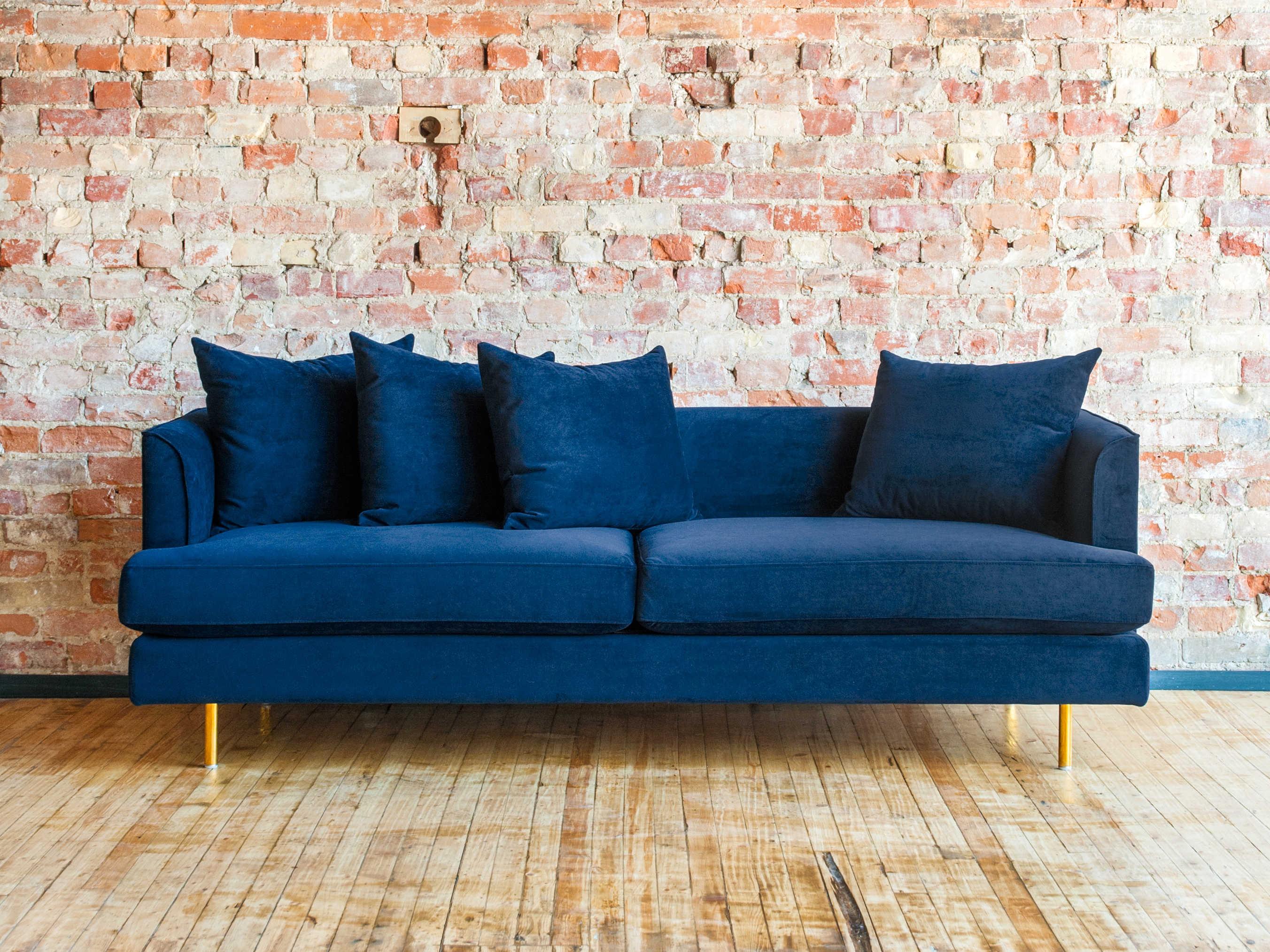 Gus* Modern Margot Velvet Midnight Sofa Couch