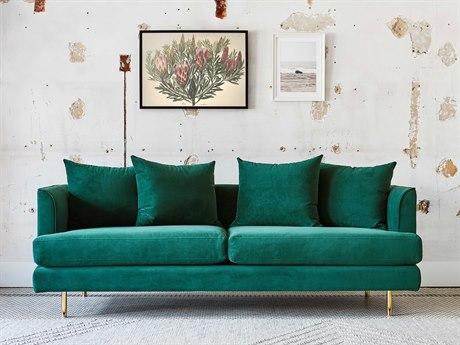 Gus* Modern Margot Velvet Spruce Sofa Couch GUMECSFMARGVELSPR