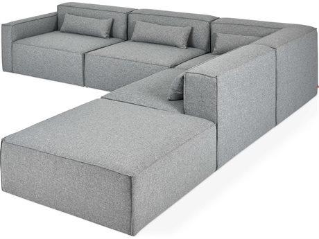 Gus* Modern Mix Parliament Stone Sectional Sofa GUMECMOMXLAPARSTOSET2