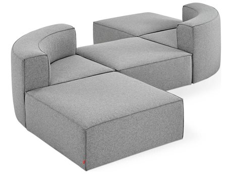 Gus* Modern Mix Parliament Stone Sectional Sofa GUMECMOMXWEPARSTOSET