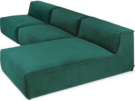 Gus* Modern Nexus Velvet Spruce Sectional Sofa GUMECMONSCHVELSPRSET