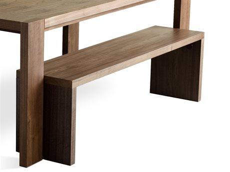 Gus* Modern Plank Walnut Accent Bench