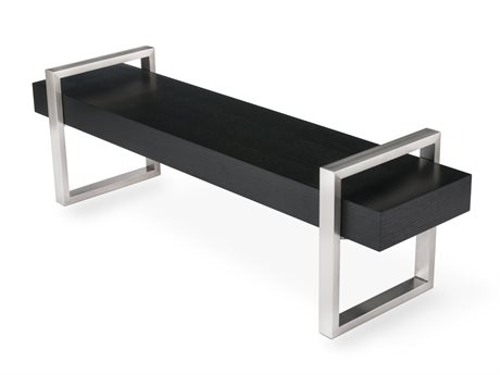 Gus* Modern Return Oak Black Accent Bench GUMECBERETUOB