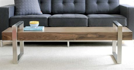 Gus* Modern Return Walnut Accent Bench GUMECBERETUWA