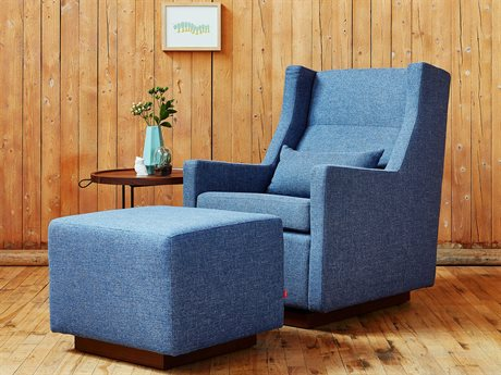 Gus* Modern Sparrow Chair and Ottoman Set GUMECGLSPARCHEPACSET