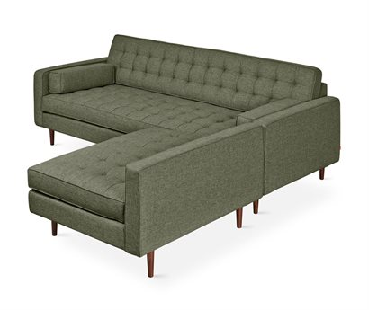 Gus* Modern Spencer Parliament Moss / Walnut Sectional Sofa GUMECSCSPEWPARMOS