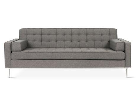 Gus* Modern Spencer Totem Storm / Stainless Steel Sofa Couch GUMECSFSPENTT