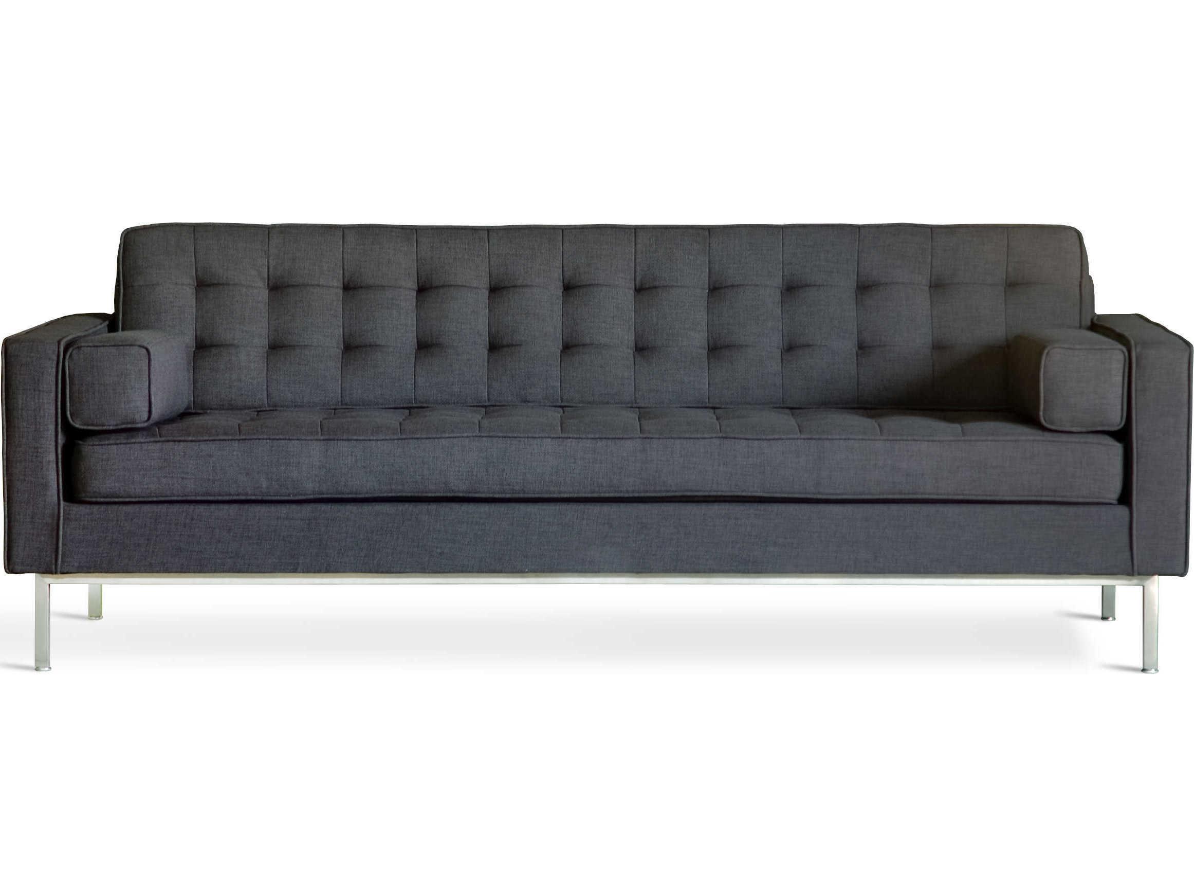 Gus* Modern Spencer Urban Tweed Ink / Stainless Steel Sofa Couch