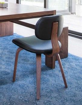 Gus* Modern Thompson Black / Walnut Side Dining Chair