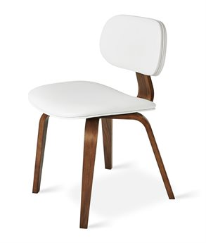 Gus* Modern Thompson White / Walnut Side Dining Chair GUMECCHTHOMWAWV