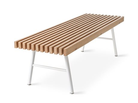 Gus* Modern Transit Natural Ash / White Accent Bench