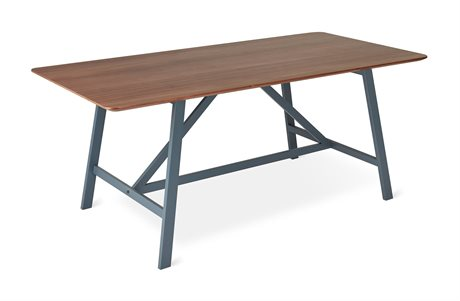 Gus* Modern Wychwood Walnut / Grey 71'' Wide Rectangular Dining Table