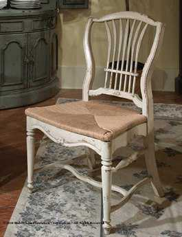 Habersham Wheat Dining Side Chair with Rush Seat HA432200
