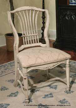Habersham Wheat Dining Side Chair with Upholstered Seat HA432205