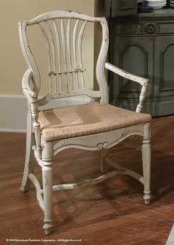 Habersham Wheat Dining Arm Chair with Rush Seat HA432210