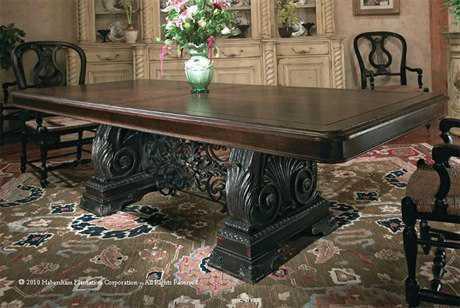 Habersham Renaissance 96 x 44 Rectangular Expandable Dining Table