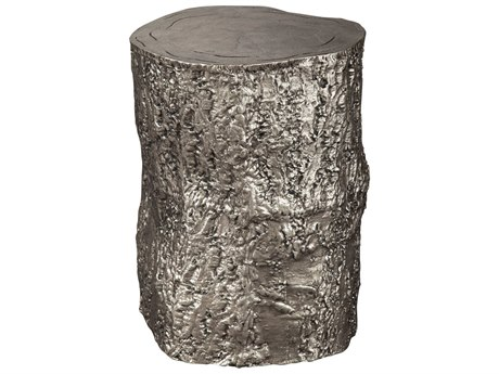 Hekman Accents Antique Nickel Tree Trunk Special Reserve Stool