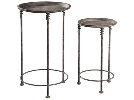 Hekman Accents Metal Special Reserve Square Pair of Garden Tables