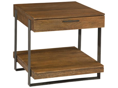 Hekman Bedford Park Iron Strapping 26.75'' x 28'' Rectangular Lamp Table with Drawer