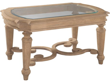 Hekman Grand Vista 36'' x 24'' Rectangular Coffee Table with Glass Top