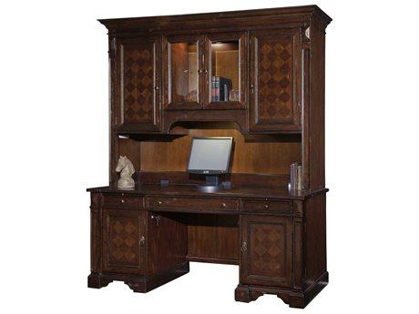 Hekman Havana Antique Credenza Desk with Deck HK81246SET1