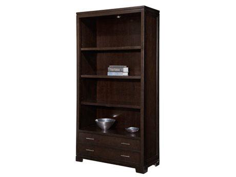 Hekman Home Office Center Mocha Five-Shelf Storage Bookcase HK79184