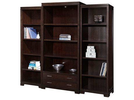 Hekman Home Office Center Mocha Five-Shelf Storage Bookcase Set HK79184SET1